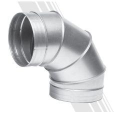 Отвод 90-150 для круглых каналов